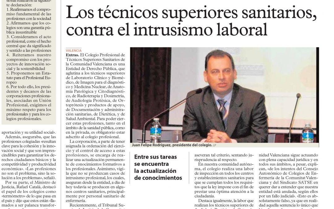 Los Técnicos Superiores Sanitarios, contra el Intrusismo Laboral